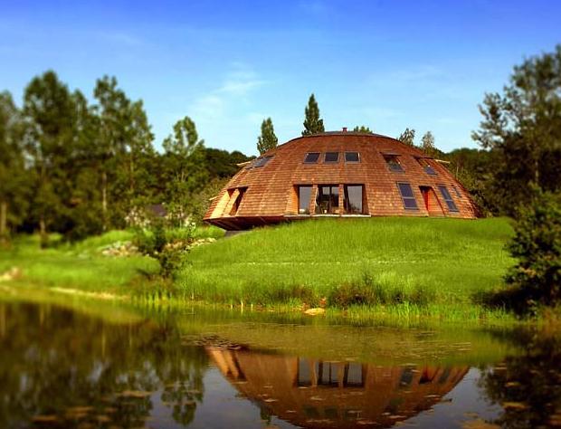 maison ronde bois